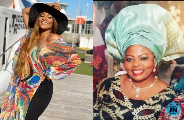 Bimbo Ademoye, Rita Dominic, others console Osas Ighodaro over the death of her mother